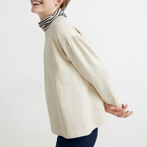 NWT madewell rivet & thread seam sweatshirt
